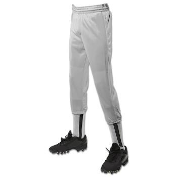 Champro Youth Performance Pull-Up Baseball Pants - Grey