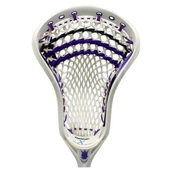 Brine Clutch 3 X Strung Lacrosse Head - White, Purple