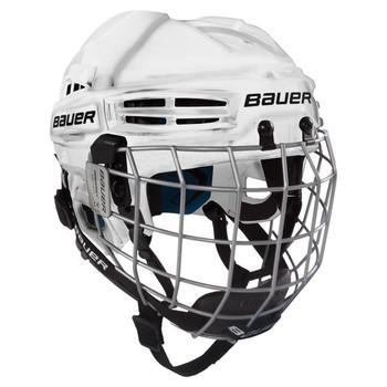 Bauer Prodigy Youth W/ Cage Ice Hockey Helmet Combo - White