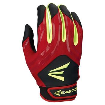 Easton HF3 Women's Hyperskin Batting Gloves - Black, Red, Optic Yellow