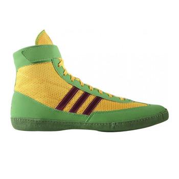 newest 111cb 00da1 Adidas Combat Speed 4 Wrestling Shoes AQ3059 -GoldPinkLime ...