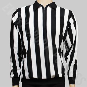 CCM 150 Official Senior Hockey Referee Shirt - Black, White Stripes