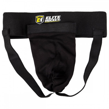 Elite Hockey Adult and Junior Classic Cup and Jock Supporter - Black