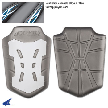 White Champro Sports FKP-Y CHAMPRO Youth Air Knee Pad