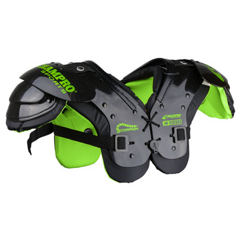 Champro Scorpion Youth Football Should Pads - Grey, Black, Green