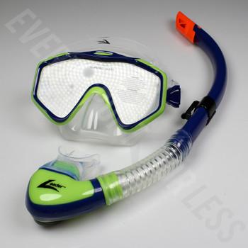 Leader Majorca Senior Mask and Snorkel Combo - Navy/Lime