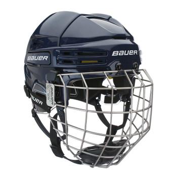 Bauer Re-AKT 75 Combo Senior Hockey Helmet - Navy Blue