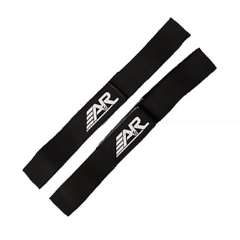 A&R Hockey Shin Guard / Pads Straps - 4 Strap Pack Black