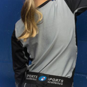 Sports Excellence LS SMU Senior Compression Under Shirt - Black, Grey