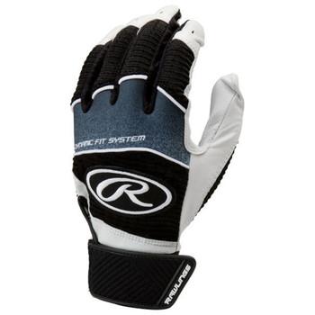 Rawlings Workhorse Senior Baseball Batting Gloves - Black