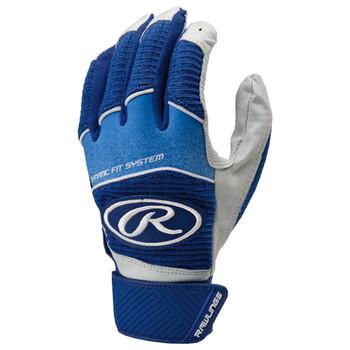 Rawlings Workhorse Senior Baseball Batting Gloves - Royal