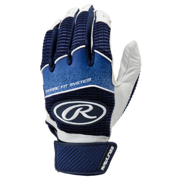 Rawlings Workhorse Senior Baseball Batting Gloves - Navy