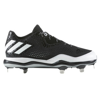 e7e345cf171f Adidas Power Alley 4 Low Men's Metal Baseball Cleats Q16481 - Black, White  ...