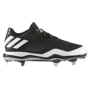 Adidas Power Alley 4 Low Men's Metal Baseball Cleats Q16481 - Black, White