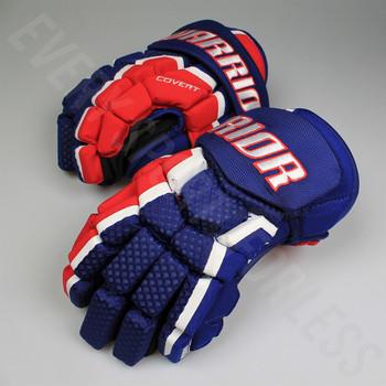 Warrior Covert QRL3 Junior Hockey Gloves - Royal / Red