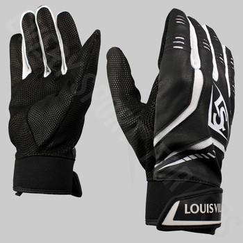 Louisville Slugger Omaha Senior Baseball Batting Gloves | Black