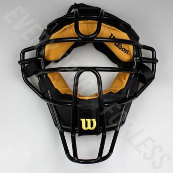 Wilson Dyna-Lite Steel Baseball Umpire's Mask - Black / Tan