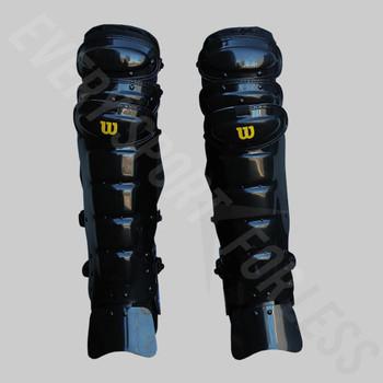 Wilson Pro Gold Baseball Umpire's Leg Guards - Black