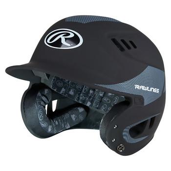 Rawlings Velo Junior Carbon Fiber Baseball Batting Helmet - Black
