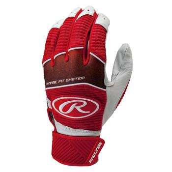 Rawlings Workhorse Senior Baseball Batting Gloves - Scarlet