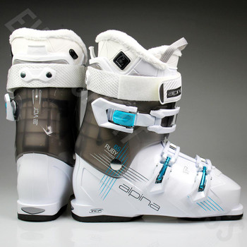 Alpina Ruby 65 Women's Heated Ski Boot - White, Grey