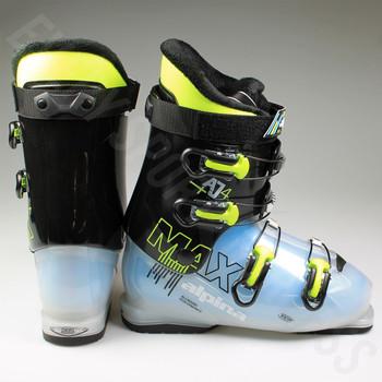 Alpina AJ4 MAX Junior Ski Boot - Black, Blue