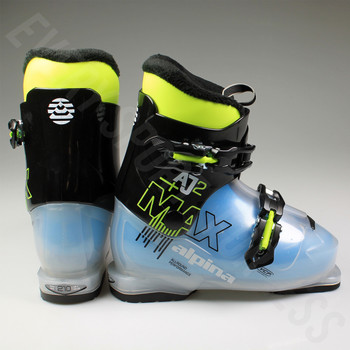 Alpina AJ2 MAX Junior Ski Boot - Black, Blue