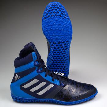 Adidas Impact Senior Wrestling Shoes AQ3318 - Navy, Silver, Royal