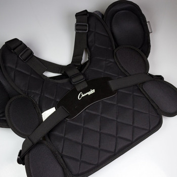 Champion Low Bounce Umpire Chest Protector - Black