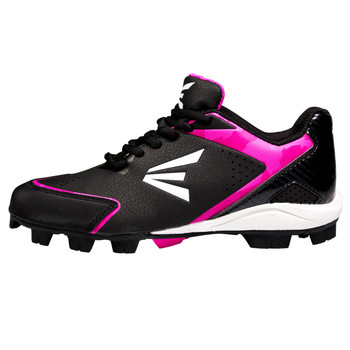 Easton 360 Instinct Low Womens Baseball Cleats - Black, White, Pink