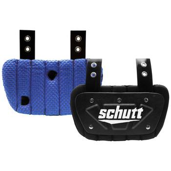 Schutt Youth Football Back Plate - Black, Neon Blue