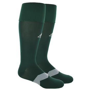 Adidas Metro IV OTC Soccer Socks - Green, White, Clear Grey