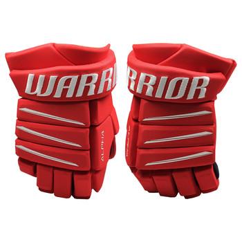Warrior Alpha Evo SMU Senior Hockey Gloves - Red, White