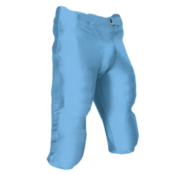 Champro Terminator Youth Football Pant with Pads - Light Blue
