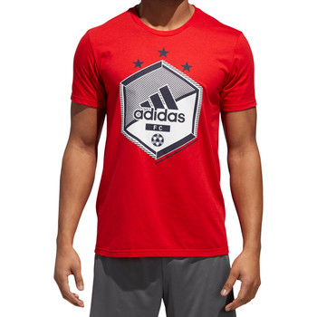 Adidas Soccer Shield Men's Graphic Tee CF8234 - Red