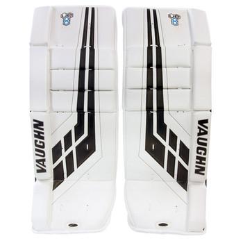 Vaughn VPG VE8 Velocity Youth Hockey Goalie Leg Pads - White, Black