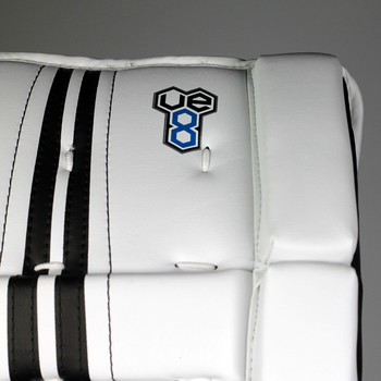 CCM YFlex Youth Hockey Goalie Leg Pads - White, Black | Best