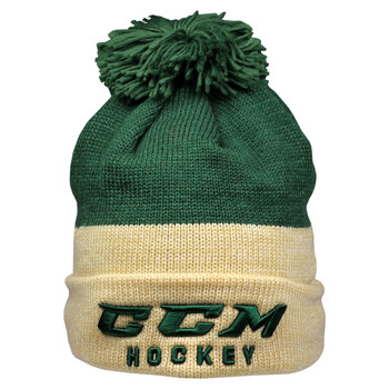 9ce770f17f8 CCM True 2 Hockey Knit Pom Winter Hat - Green