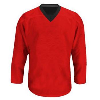 Troy Hockey Reversible Senior Hockey Jersey - Black, Red