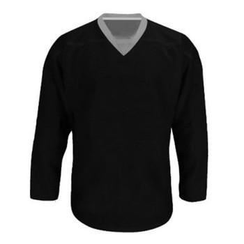 Troy Hockey Reversible Senior Hockey Jersey - Black, Silver