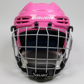 Bauer Prodigy Combo Youth Hockey Helmet - Pink