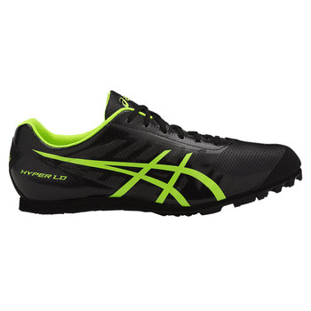 Asics Hyper LD 5 Men's Track and Field Shoes - Black, Yellow