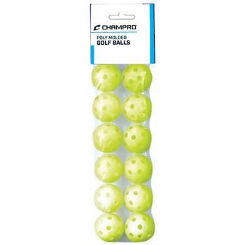 "Champro Plastic Poly 5"" Baseball Training Golf Balls - 12 Pack"