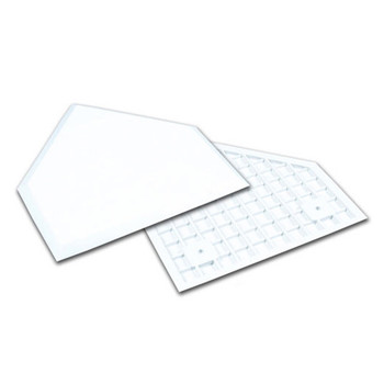 """Champro Molded Rubber 1/2"""" Waffle Bottom Home Plate - White"""