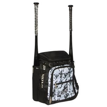 Diamond Zone Baseball Bat Backpack - Camo Gray