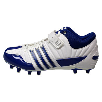 Adidas Brute Force 2 Fly Mid Lacrosse Cleats - Royal / White