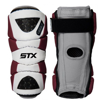 STX Cell II Men's Lacrosse Arm Pads - Maroon