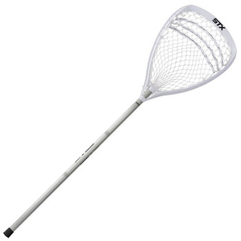 STX Shield 100 Complete Goalie Lacrosse Stick - White, Platinum