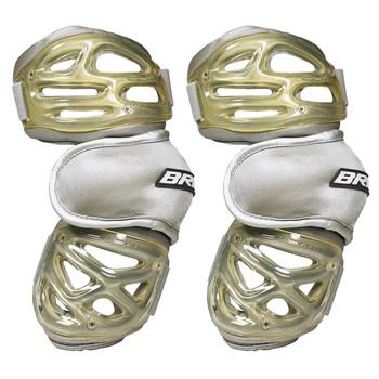 Brine Ventilator Senior Lacrosse Arm Guards - Silver, Gold