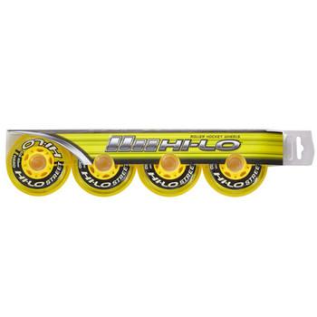 Bauer S19 HI-LO Street Inline / Roller Hockey Wheels - 4 Pack